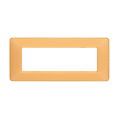 Placca 6 moduli BTicino Matix ambra