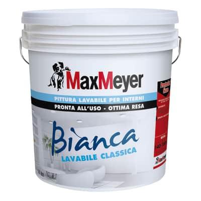 Idropittura lavabile bianca Max Meyer 14 L