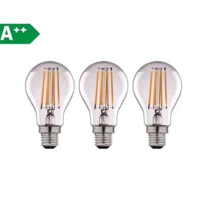 3 lampadine led lexman filamento e27 100w goccia luce