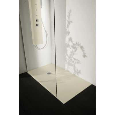 Piatto doccia resina Liso 130 x 100 cm grigio perla