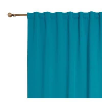 Tenda oscurante fettuccia e passanti nascosti blu 140 x 280 cm prezzi e offerte online leroy - Oscurare vetro porta ...