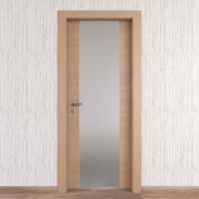 Porta da interno battente Sheraton rovere naturale 70 x H 210 cm dx
