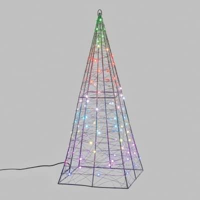Piramide luminosa 100 minilucciole Led MULTI RGB H 60 cm
