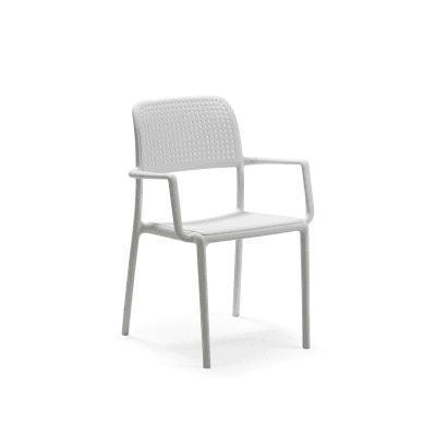 Sedia impilabile Bora bianco