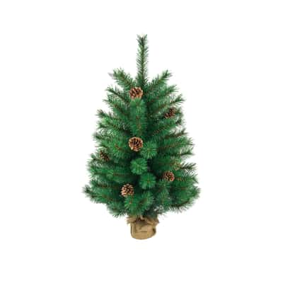 Alberello di Natale da appoggio Aberdeen H 90 cm