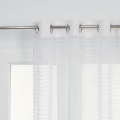 Tenda Righe orizzontali bianco 140 x 280 cm