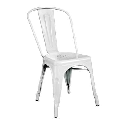 Sedia impilabile Industrial bianco