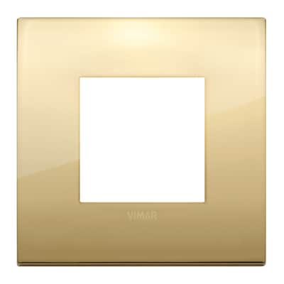 Placca 2 moduli Vimar Arké oro