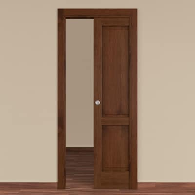 Porta da interno scorrevole Canova rovere noce 80 x H 210 cm dx