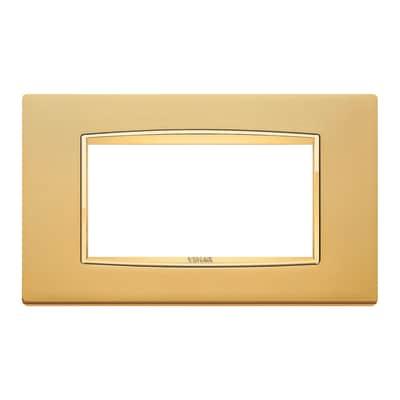 Placca 4 moduli Vimar Eikon Classic oro satinato