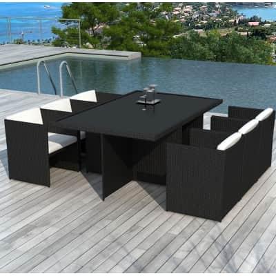 Set tavolo e sedie Kubik antracite