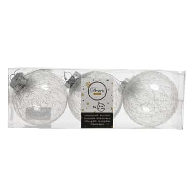 Box sfere argento ø 8 cm