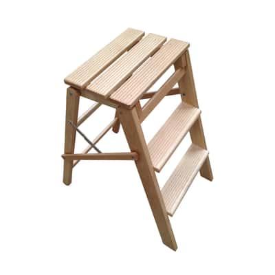 Sgabello in legno 3 gradini valdomo jolly 3 plus prezzi e for Gradini in legno prezzi
