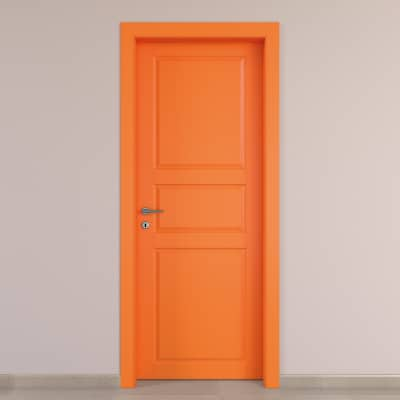 Porta da interno battente New York arancio 90 x H 210 cm dx
