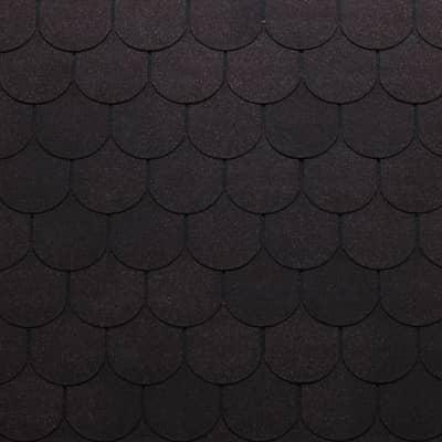 Tegole canadesi coda di castoro Onduline Bardoline Pro nero in bitume 100 x 34  cm, spessore 3,4 mm