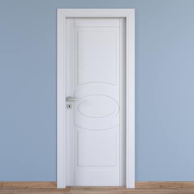 Porta da interno battente Street bianco 70 x H 210 cm dx