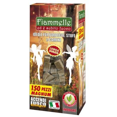 Cubi accendifuoco ecologico 150 pezzi