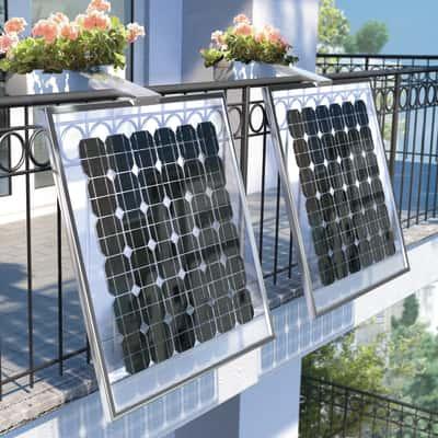 Impianto fotovoltaico da balcone fai da te 160 watt oro 0,16 kW