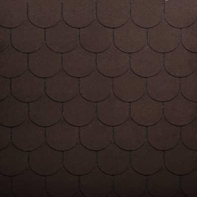 Tegole canadesi coda di castoro Onduline Bardoline Classic marrone in bitume 100 x 34  cm, spessore 3 mm