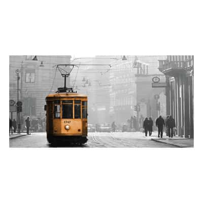 Quadro su tela milano tram scala 60x120 prezzi e offerte for Leroy merlin quadri tela