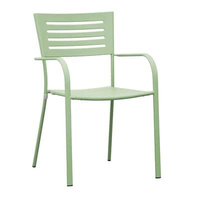 Sedia impilabile CHF 16V color verdino con braccioli