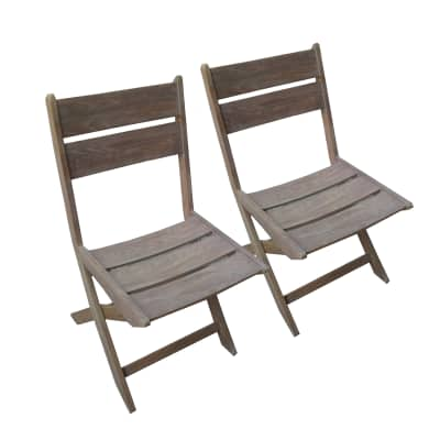Set 2 sedie pieghevole Venezia robinia