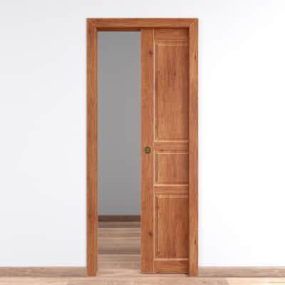 Porta da interno scorrevole Old Town teak sbiancato 60 x H 210 cm reversibile