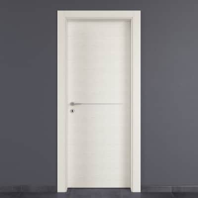 Porta da interno battente Hollow bianco matrix 60 x H 210 cm dx