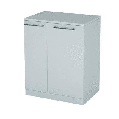 Base singola Portalavatrice bianco 2 ante L 75 x H 93 x P 53 cm