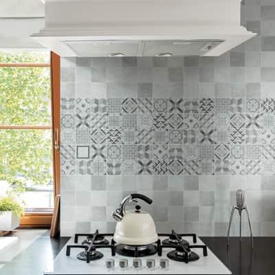 Piastrella Cement 10 x 10 cm grigio