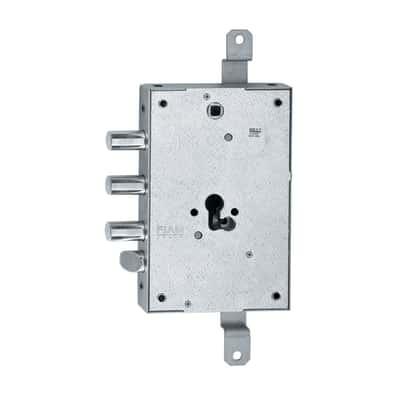 Serratura con cilindro sagomato universale da applicare, entrata 6,3, interasse 85 mm, reversibile