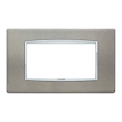 Placca 4 moduli Vimar Eikon Classic titanio matt