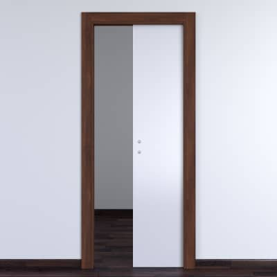 Porta da interno scorrevole One bianca/brown 60 x H 210 cm reversibile