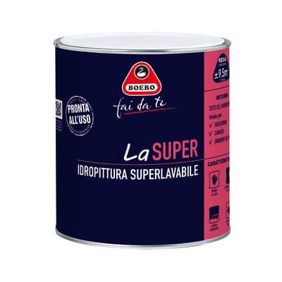 Idropittura superlavabile bianca Boero La Super 0,75 L
