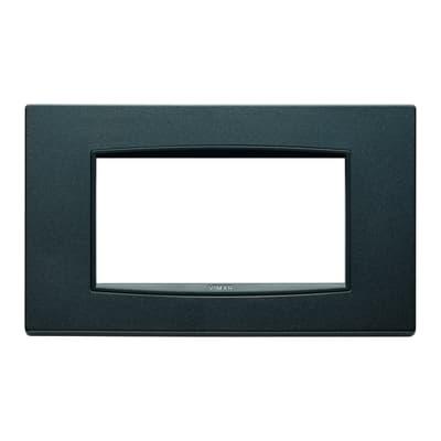 Placca 4 moduli Vimar Eikon Classic antracite matt