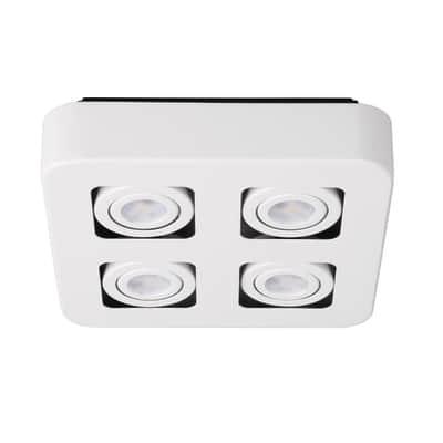 Plafoniera a 4 luci iDual Krypton bianco LED integrato
