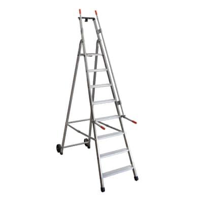 Scala doppia alluminio Facal 8 gradini, per lavori fino a 3,63 m