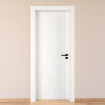 Porta da interno battente Chamberì bianco 80 x H 210 cm sx