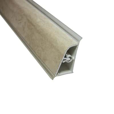 Alzatina Travertino alluminio crema L 300 x H 3,9 cm