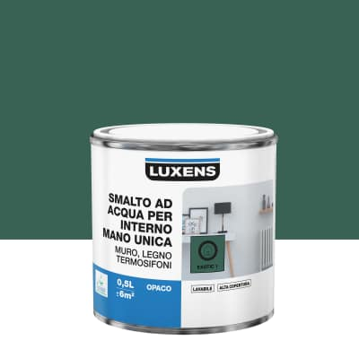 Smalto manounica Luxens all'acqua Verde Esotico 1 opaco 0.5 L