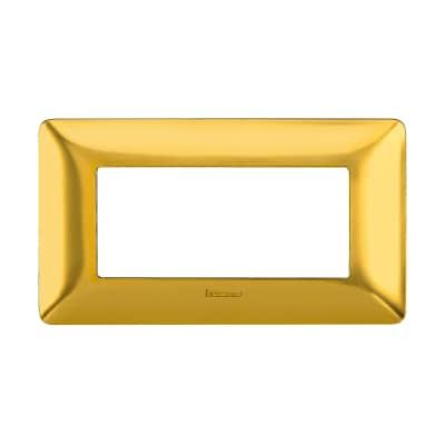 Placca 4 moduli BTicino Matix oro satinato