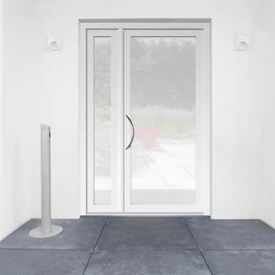 portoncino d'ingresso alluminio Condo5 bianco L 132 x H 210 dx