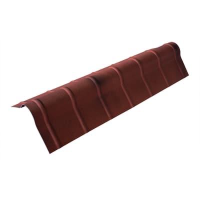 Colmo polivalente terracotta anticato in polimglass 41 x 16  cm, spessore 1,8 mm