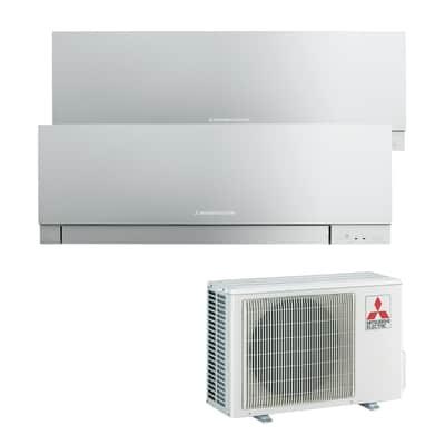 Climatizzatore fisso inverter dualsplit Mitsubishi MXZ-2D53VA + MSZ-EF35VES + MSZ-EF35VES 3.5 + 3.5 kW