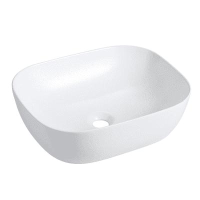 Lavabo da appoggio rettangolare L 49 x P 40 x H  14,5 cm bianco
