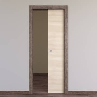 Porta da interno scorrevole Mixage brown grano 80 x H 210 cm reversibile