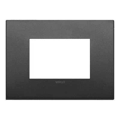 Placca 3 moduli Vimar Arké grafite matt