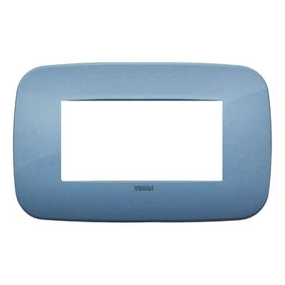 Placca 4 moduli Vimar 19684.86 Arké blu