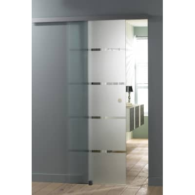 Porta da interno scorrevole miami satinato 86 x h 215 cm for Porte da interno leroy merlin