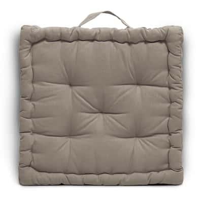 Cuscino Futon Clea Inspire tortora 60 x 60 cm
